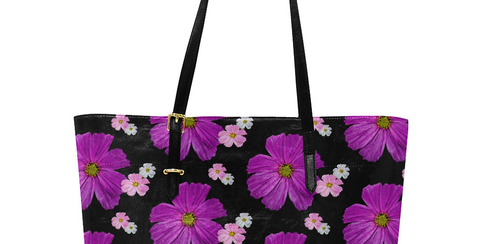 Cosmos Chaos Pink - Large Tote Bag