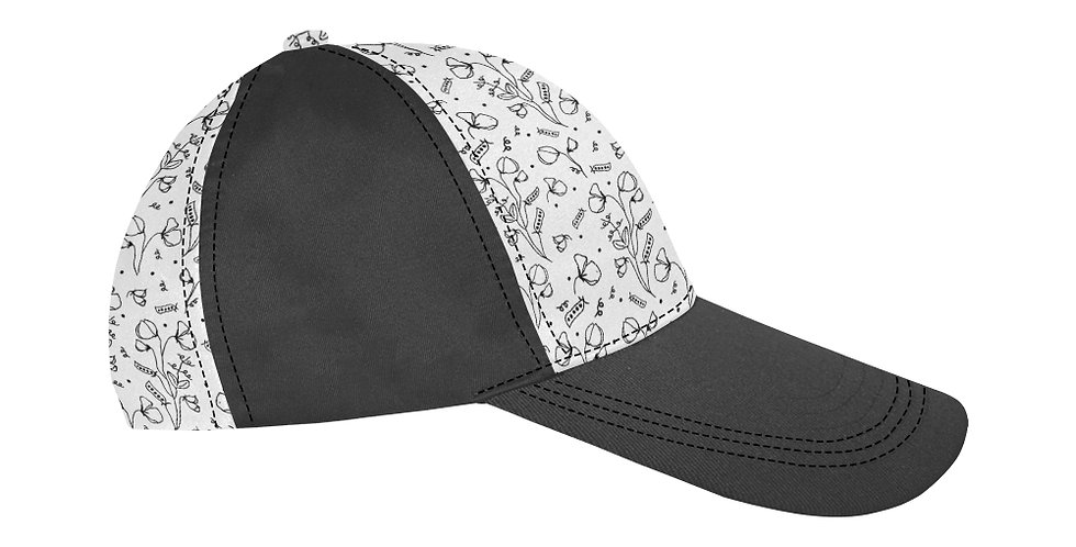 #sweetpealust (black & white) - Baseball Cap
