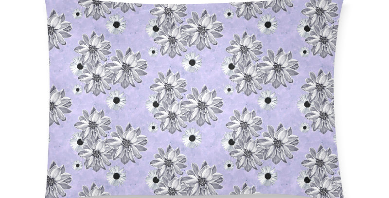 Floral Mauve - Cushion Cover