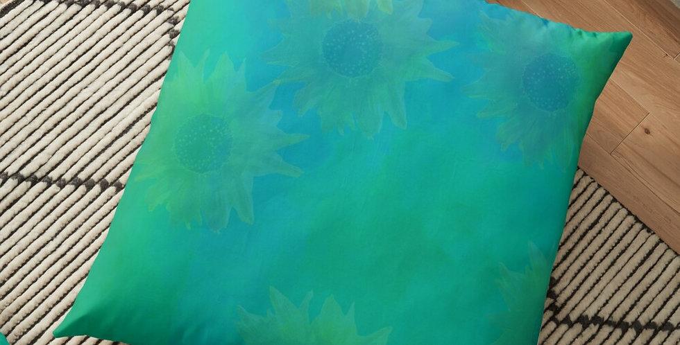 Sunflower - Sunshine On My Shoulder - Water Wash - Cushion Cover