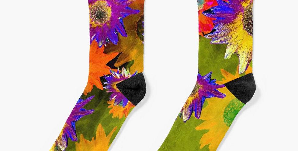 Strawflower Sizzle Multi - Socks