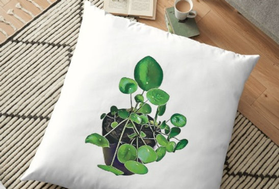 Chinese Money Plant Cushion Cover