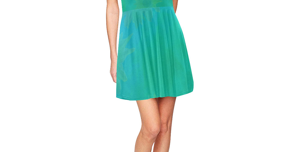 Sunflower Water Wash - Skater Dress