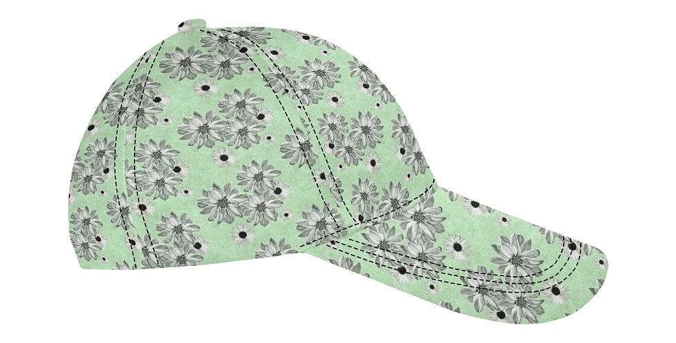 Floral Mint - Baseball Cap