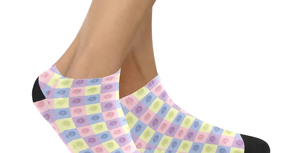 Pastel Poppies - Ankle Socks