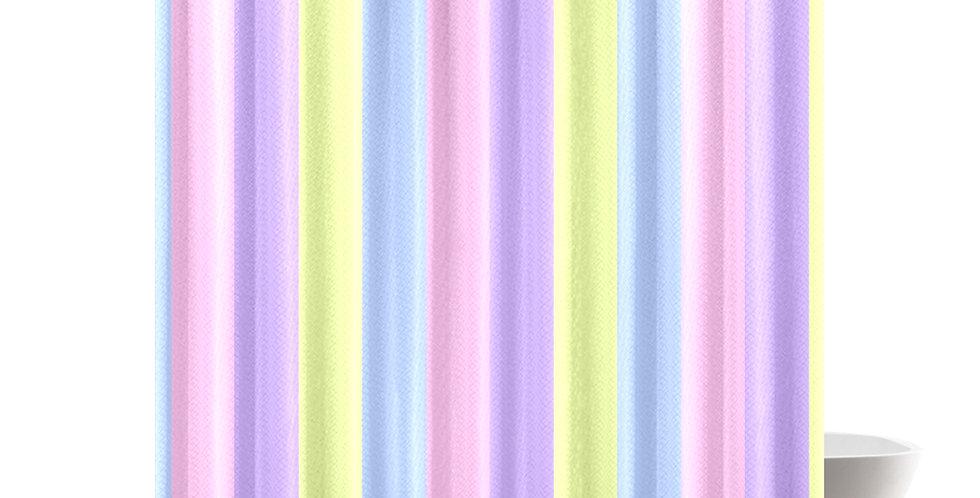 Pastel Stripes - Shower Curtain