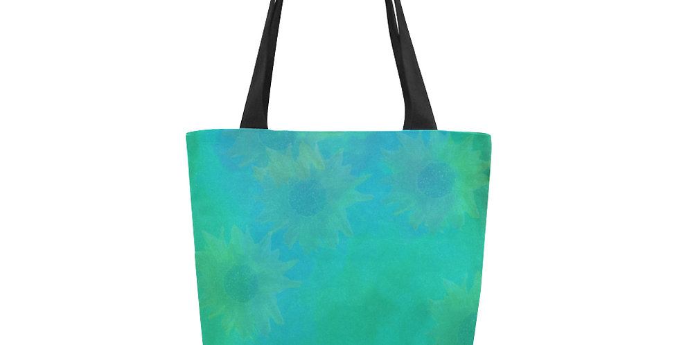 Sunflower Water Wash- Tote Bag