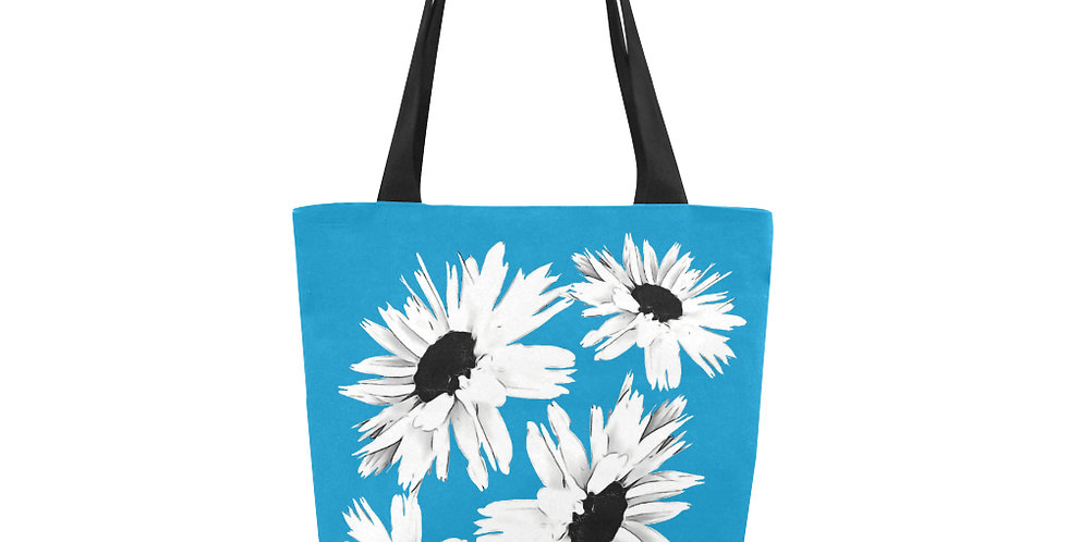 Bunch of Daisies Bright Blue - Tote Bag