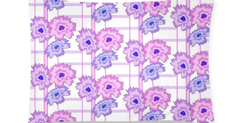 Flower Frenzy pink/mauve - Cushion Cover