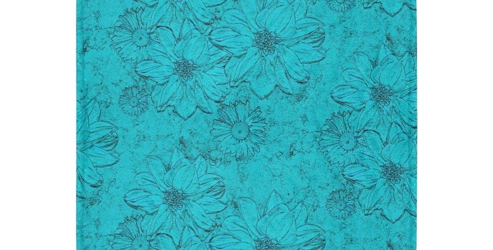 Embossed Floral - Blue - Blanket