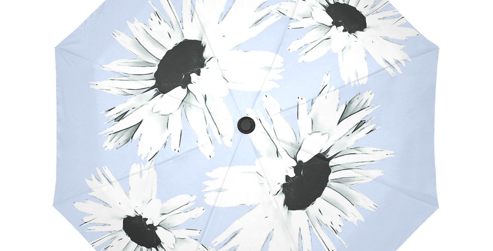 Daisy Love Pale Blue - Botanical Umbrella