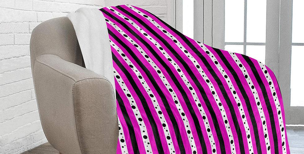 Sweet Pea Passion - Stripe - Blanket