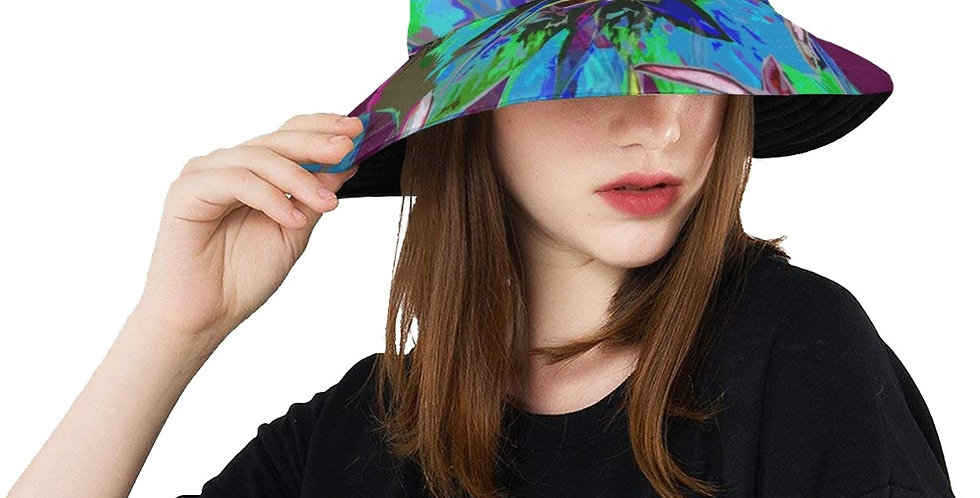 Luscious Liliums - Blue / Purple - Bucket Hat