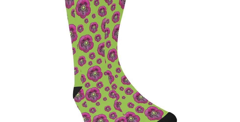 Purple Poppies - Unisex Socks (Made in Australia)