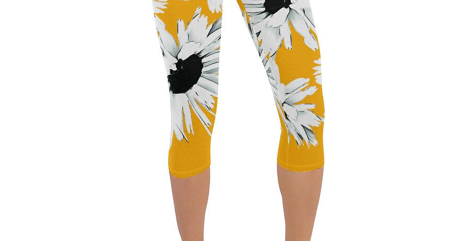 Daisy Love Yellow - Leggings 3/4