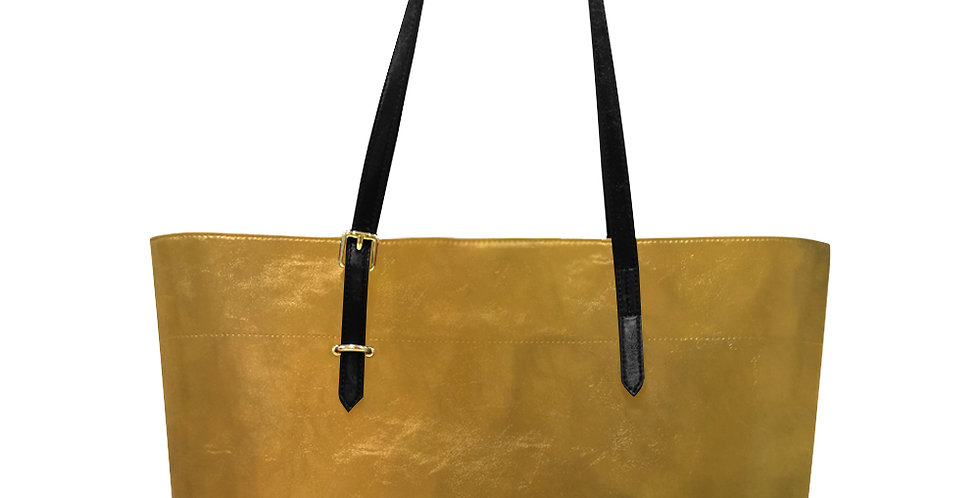 Rainbow Iris Washed Yellow - Large Tote Bag