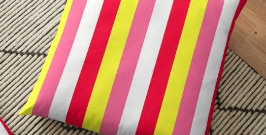 Dahlia Fireworks Stripes - Cushion Cover