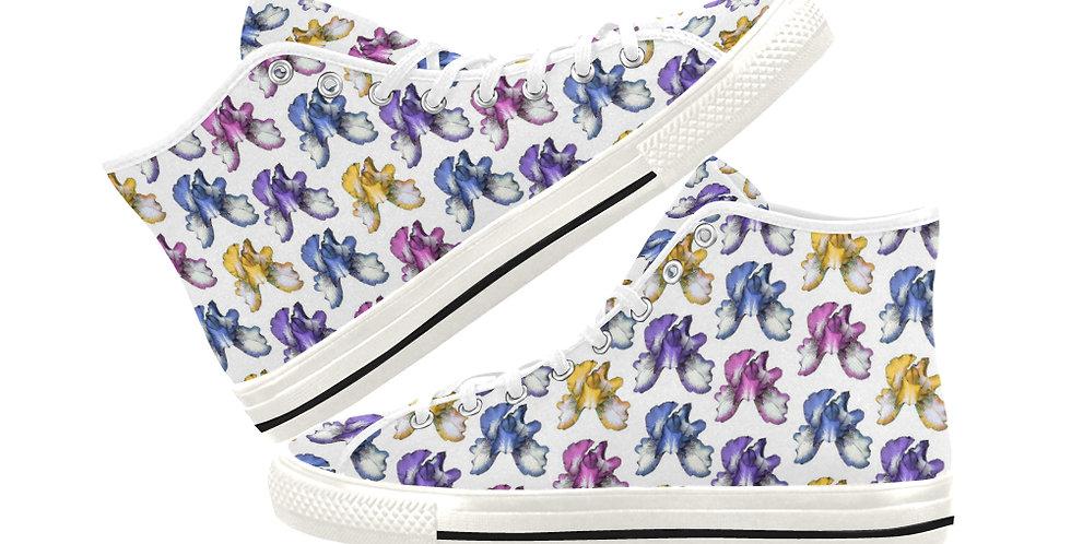 Bearded Iris - Women's High Top Canvas Sneakers
