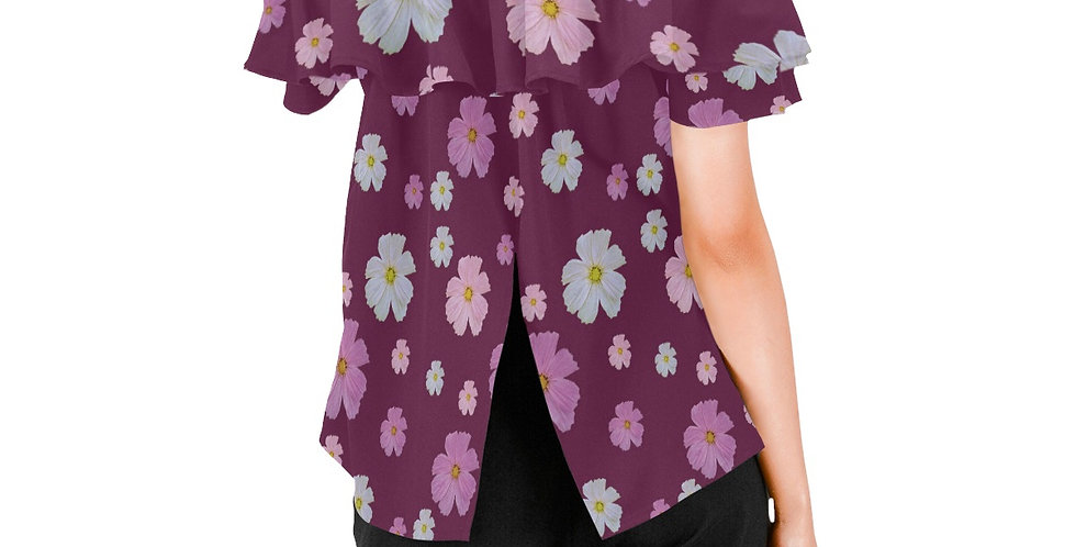 Cosmos and Wine - Women's Chiffon Blouse