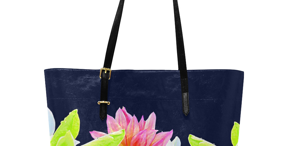 Magnolia Butterflies (boarder) - Large Tote Bag