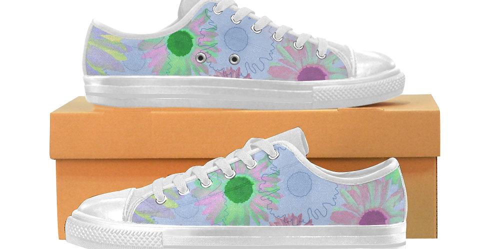 Wildflower Floral - Women's Canvas Sneakers
