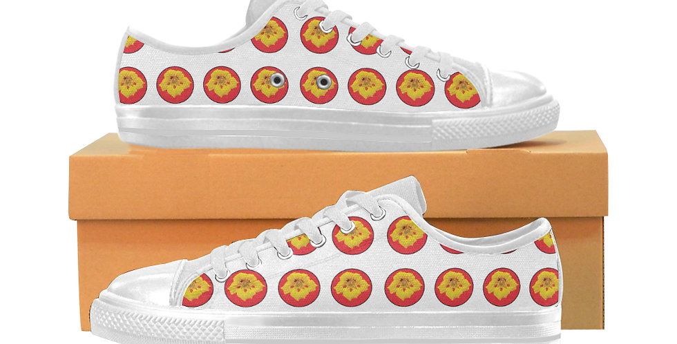 Ladybug Nasturtium Dot - Women's Canvas Sneakers