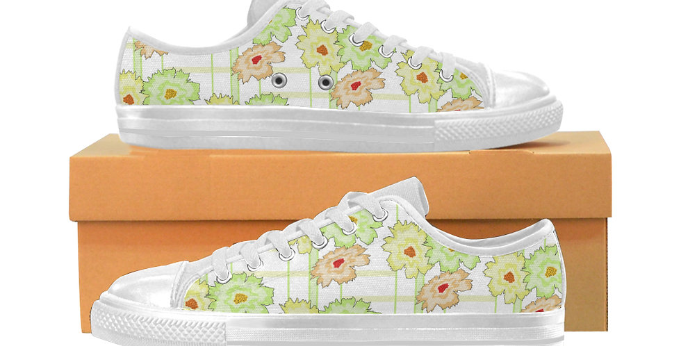 Summer Floral - Women's Canvas Sneakers
