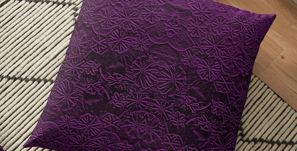 Metallic Poppies Purple - Cushion Cover