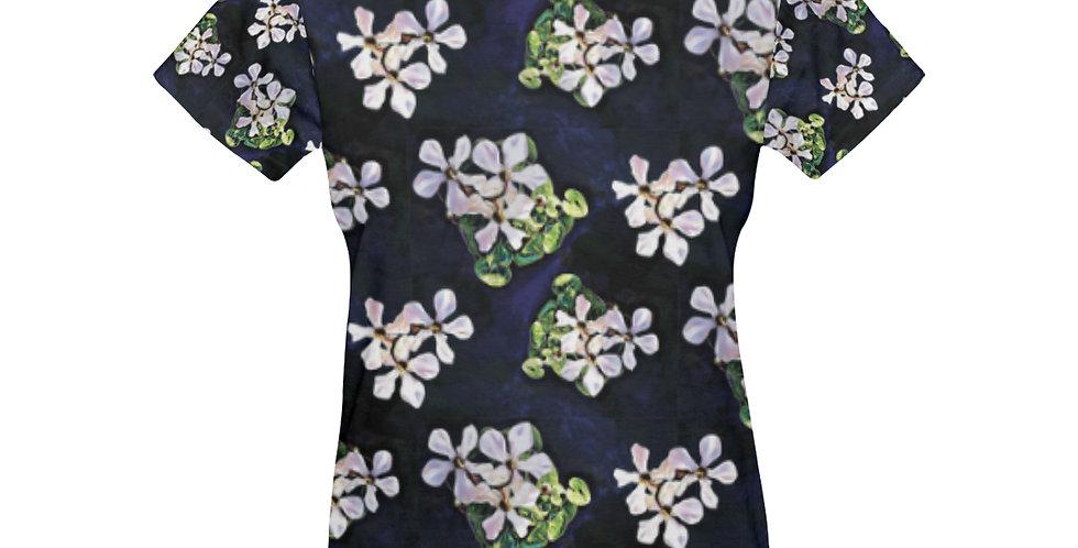 Cyclamen Swirl (small print)- T-shirt