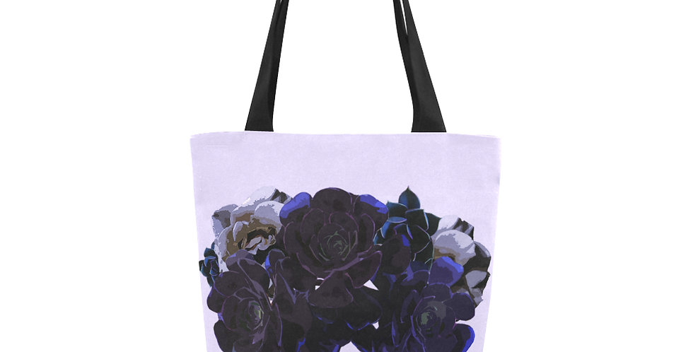 Succulent Roses Mauve - Tote Bag