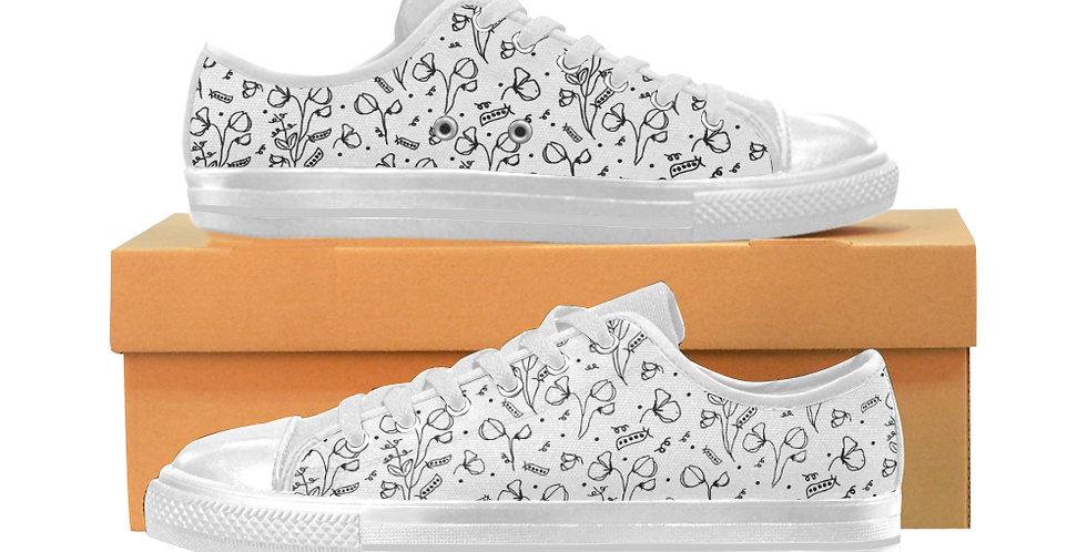 #sweetpealust White - Women's Canvas Sneakers