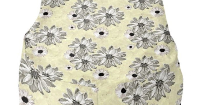 Floral Lemon - Bean Bag Cover