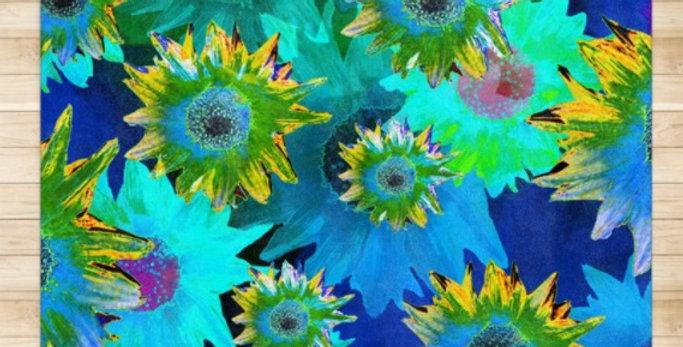 Strawflower Sizzle - Blue - Rug & Runner