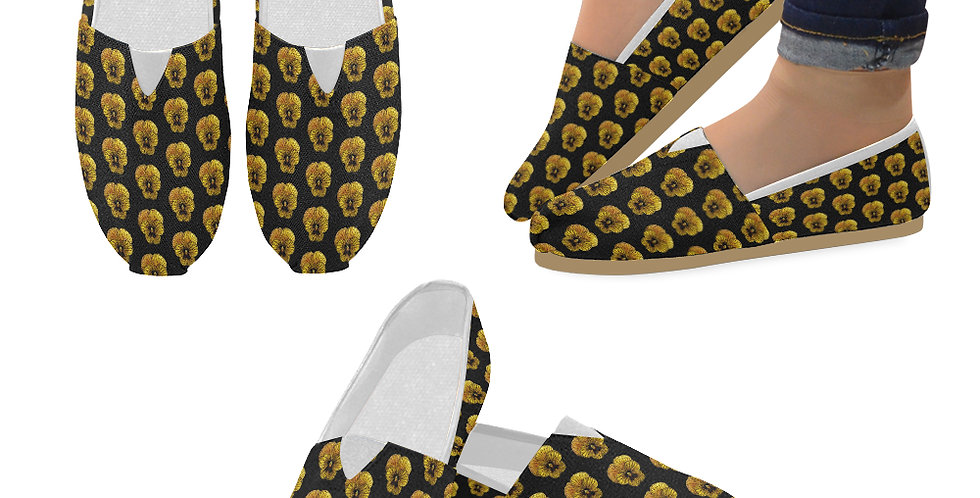Pansy Tiger (small print) - Slip On Canvas Shoes