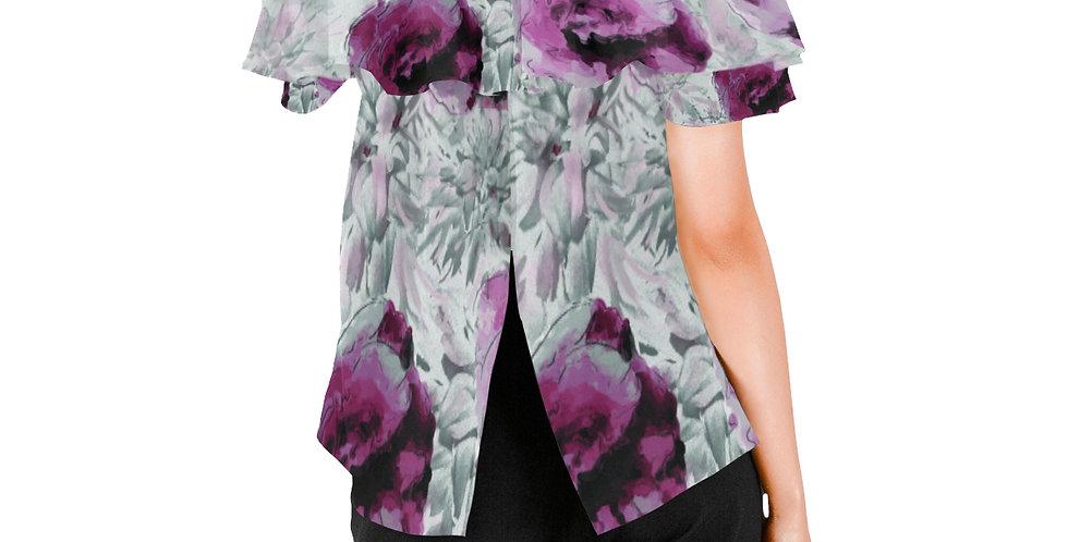Roses and Dahlias - Women's Chiffon Blouse
