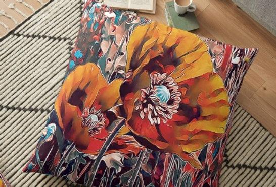 Meadow Poppies - Autumn Cushion Cover