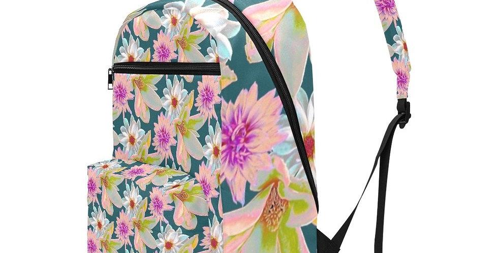 Vintage Floral - Travel Backpack (Large Capacity)