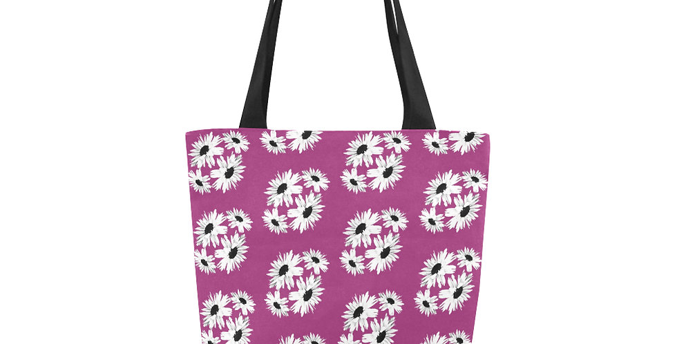 Bunch of Daisies Pink (small print) - Tote Bag