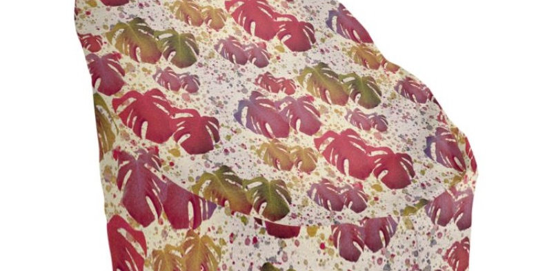 Monstera Leaves Vintage - Bean Bag Cover