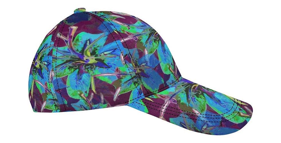 Luscious Liliums - Blue / Purple - Baseball Cap