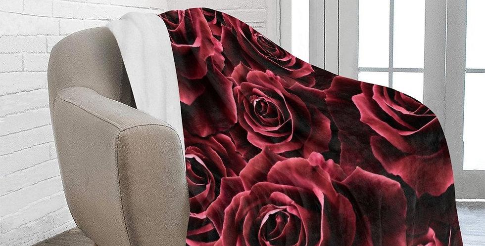 Velvet Roses - Red - Blanket