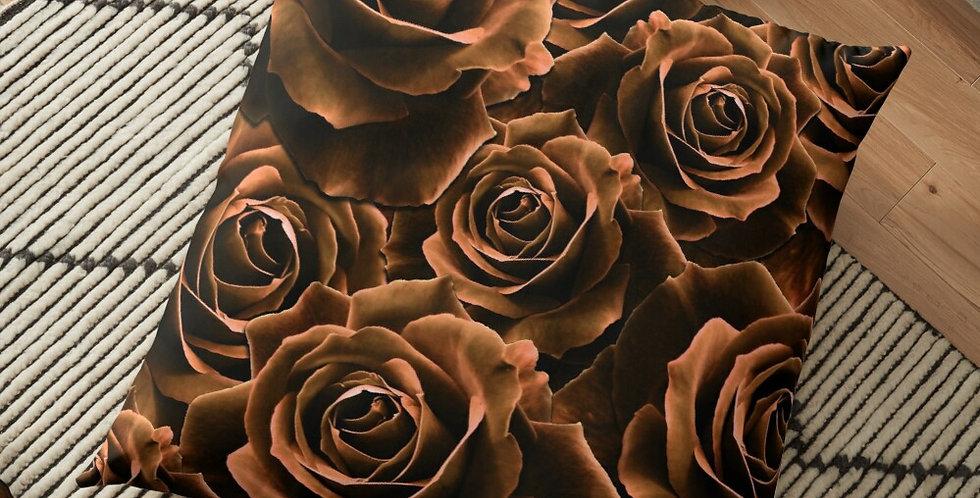 Velvet Roses Chocolate - Cushion Cover
