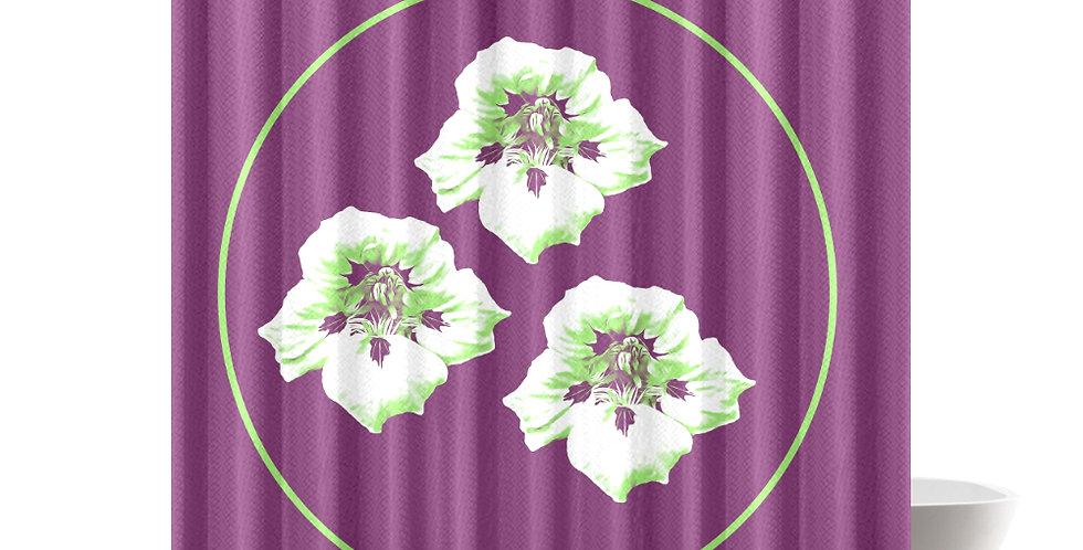 Purple Nasturtium - Shower Curtain
