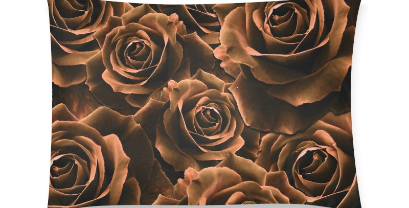 Velvet Roses Copper - Cushion Cover