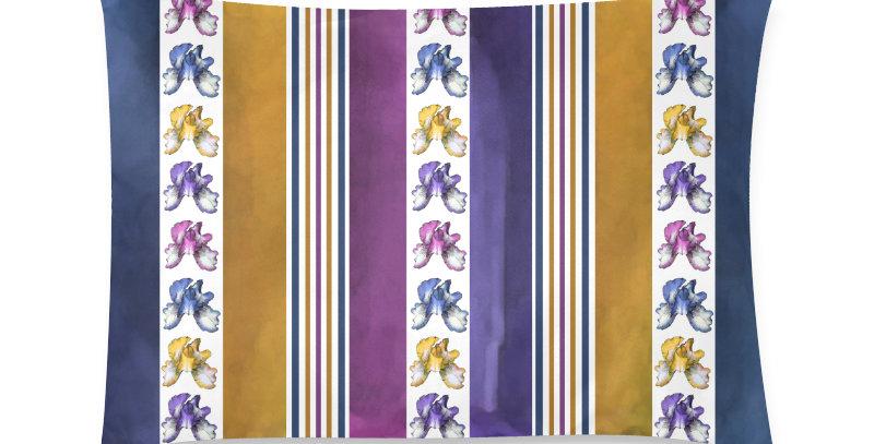Rainbow Iris Stripes - Cushion Cover