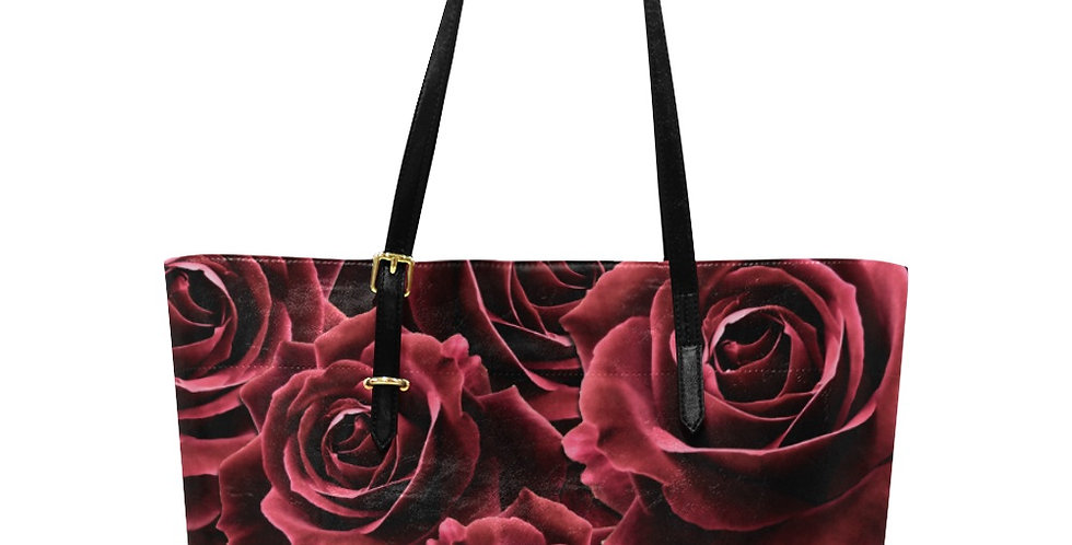 Velvet Rose Red - Large Tote Bag
