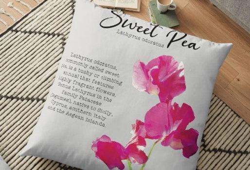 Sweet Pea Botanical - Cushion Cover