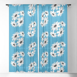 bunch-of-daisies-blue-small-print-sheer-