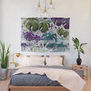 monstera-teal-purple-green-wall-hangings