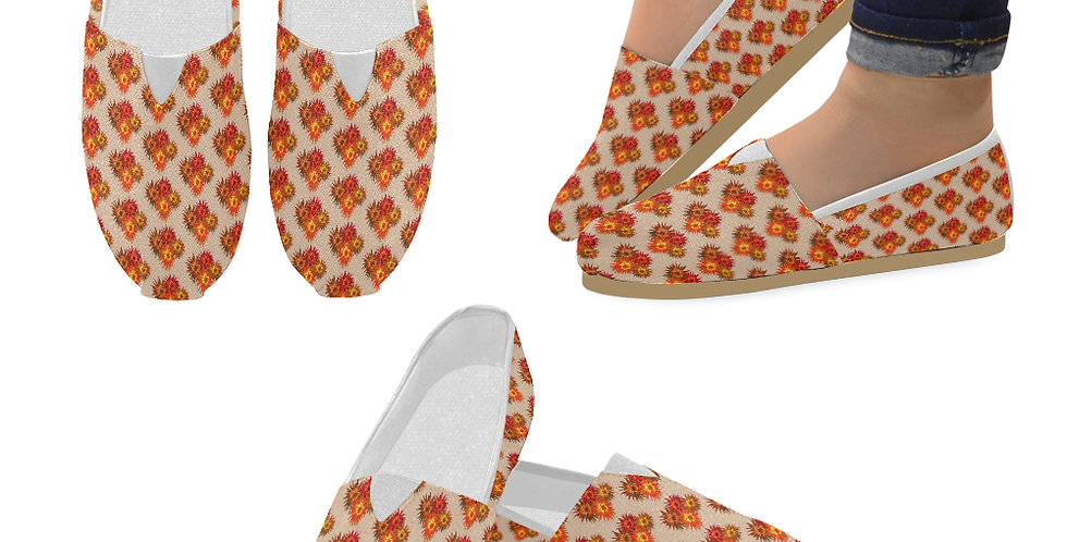 Autumn Flowers - Slip On Canvas Shoes